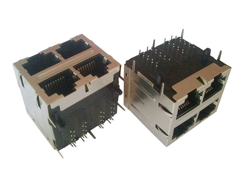 Integrated Magnetics 2x2 RJ45 750 Mating Cycles 7.7Kg Retention Strength