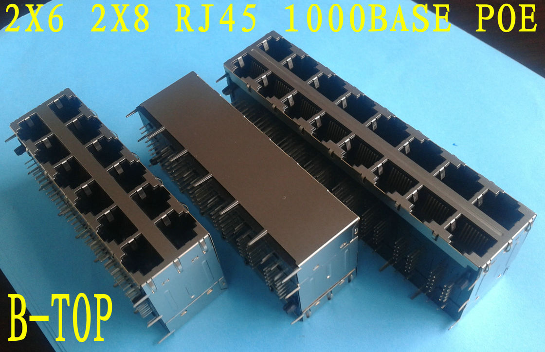 POE Function RJ45 SMT Connector 120 - 150V AC Transformer Comply With RoHS