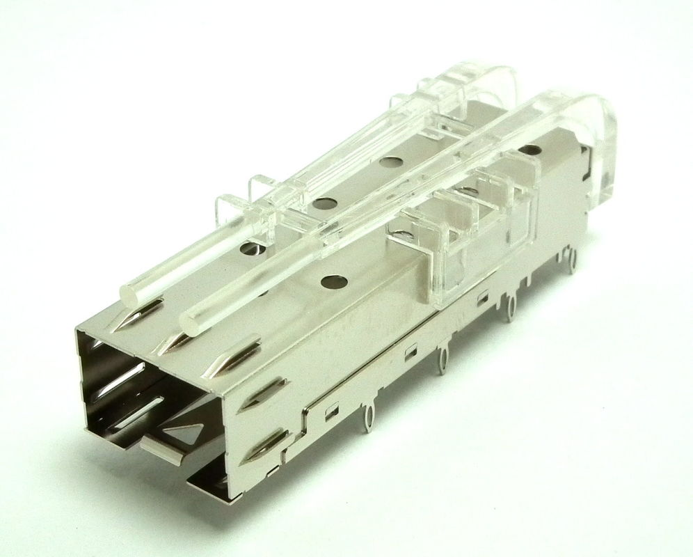 Press Fit SFP Cage Assembly , Sfp Port Connector For Maximum EMI Suppression